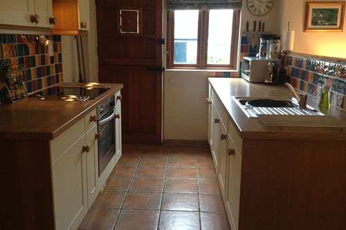 catering cottage hawthorns kitchen